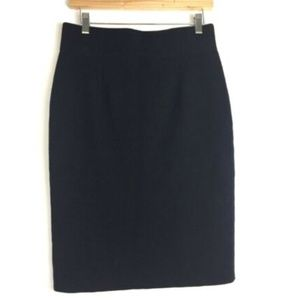 CHAPS Black Cotton Blend Knit Pencil Dress Skirt $